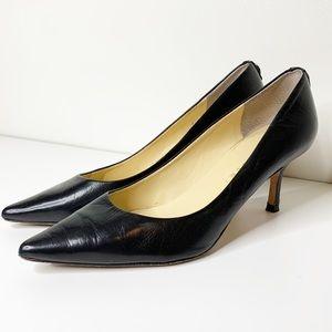 Ivanka Trump classic pointed toe kitten heel pump